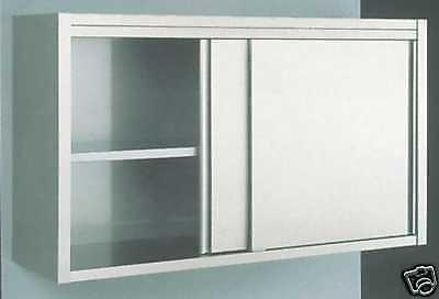 Wandhängeschrank mit Schiebetüren in CNS Länge 1800 mm