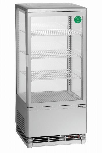 Mini-Kühlvitrine 78L, silber von Bartscher