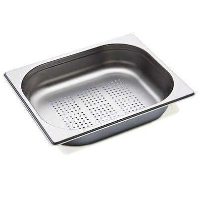 Gastronormbehälter 3 Stück gelocht, 1/2 GN, 100 mm tief