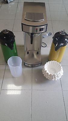 Gastro Kaffeemaschine mit 2. Pumpkannen + 1000 Filter + Meßbecher