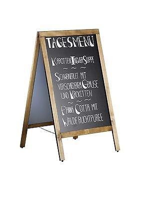 Kundenstopper Menütafel/ Tafel,IVAR doppelseitig 700 x 1200 mm + Marker, Kreide