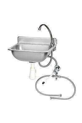 Handwaschbecken, Kniebedienung, Modell ROKIA, mit Siphon B380xT200xH330 mm