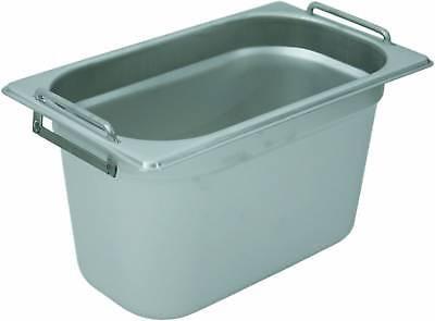 Gastronormbehälter mit Fallgriffe 3 Stück, 1/2 GN, 100 mm
