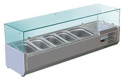 Aufsatz-Kühlvitrine Modell VRX 1200/330 5x 1/4 GN von Saro