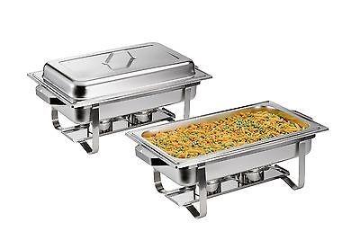 Chafing Dish 2 Set, inkl. 2 x GN 1/1 Behälter-Edelstahl