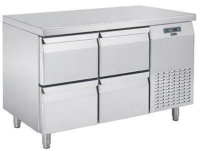 Kühltisch mit 2 x 2 Schubladen, KT 1320 4Z von Cool-Line