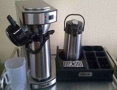 Gastro Kaffeemaschine mit 2. Pumpkanne + Kaffeestation für 1 Kanne + Meßbecher