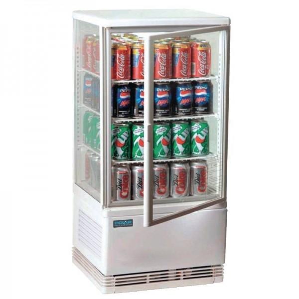 Kühlvitrine Tischmodell, Verkaufsvitrine, Flaschenkühler von Polar 68 Liter