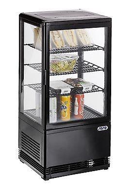 Mini-Umluftkühlvitrine SC 70 schwarz