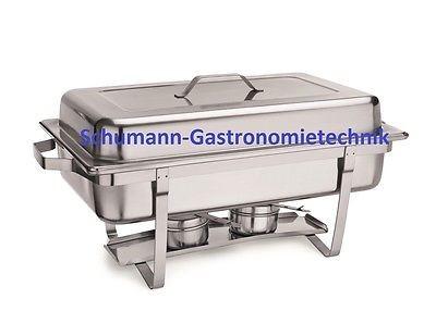 Chafing Dish, inkl. GN-Behälter 1/1 65 cm tief, einseitige Deckelhalterung