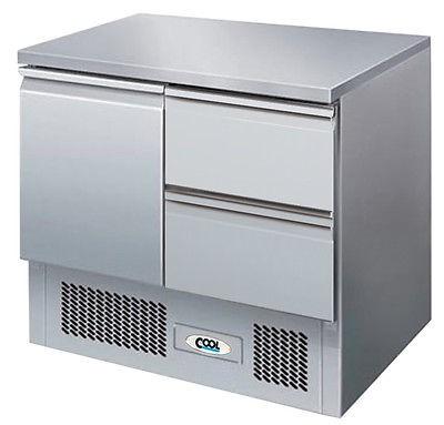 Kühltisch mit 1 Tür + 2 Schubladen KT 1 T-2Z von Cool