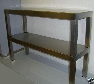 Aufsatzbord 2 - etagig Länge 100 cm in Edelstahl