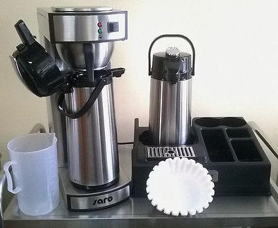 Kaffeemaschine mit 2. Pumpkanne + 1000 Filter + Kaffeestation 1er + Meßbecher