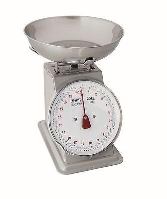 Küchenwaage, Schale aus CNS, Skala bis 20 kg,Teilung 100 g, 2. Wahl