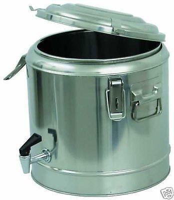 Thermobehälter mit Hahn, doppelwandig Deckel mit Dichtung, ca. 11 Liter