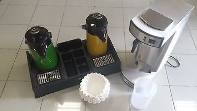 Gastro Kaffeemaschine mit 2. Pumpkannen Grün + Gelb + 1000 Filter + Kaffeesta.
