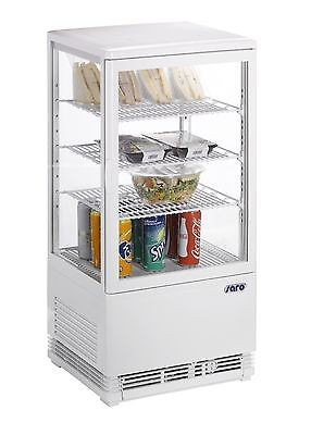 Mini-Umluftkühlvitrine Modell SC 70 weiss , SARO