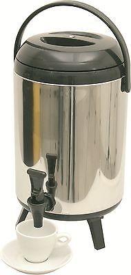 Thermo Getränkebehälter mit Klapphahn, 10 Liter