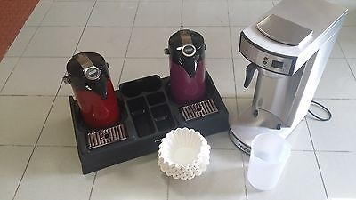 Gastro Kaffeemaschine mit 2. Pumpkannen Rot + Violett + 1000 Filter + Kaffeesta.