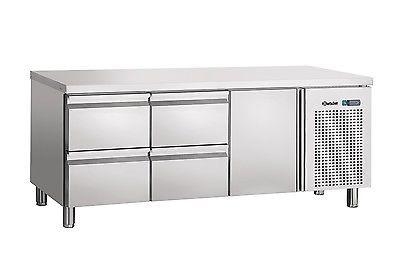 Umluftkühltisch mit 1 Tür + 2 x 2 Schubladen, 400 Liter Bartscher