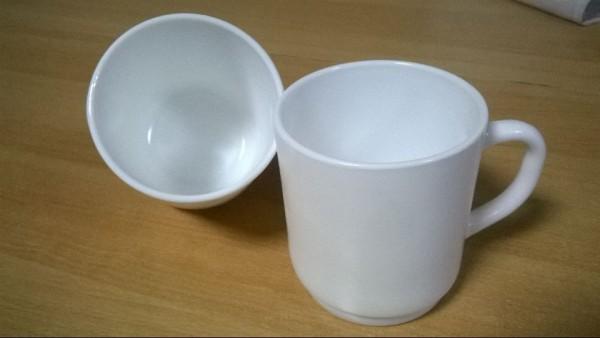 24 Kaffeetassen Opalglasbecher Bock 29 cl weiss Arcoroc 33491 stapelbar gehärtet