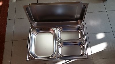Chafing Dish 1/1 GN inkl. GN-Behälter 2x 1/4 + 1x 1/2