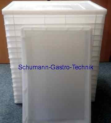 Stapelkasten/ Pizzateigbehälter 20 Stück, 60 x 40 cm + 2 Deckel