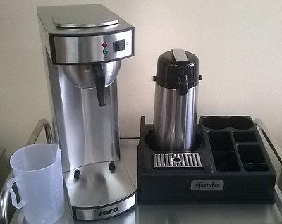 Gastro Kaffeemaschine inkl. Kaffeestation für 1 Pumpkanne + Meßbecher