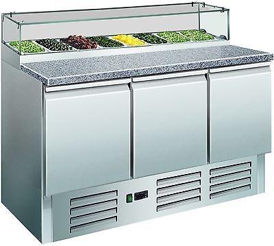 Pizzakühltisch/ Pizzatisch mit Glasaufsatz, Mod. PS 300 G von SARO