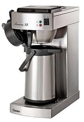 Gastro Kaffeemaschine Aurora 22 mit 2. Pumpkanne + 1000 Filter + Kaffeestation