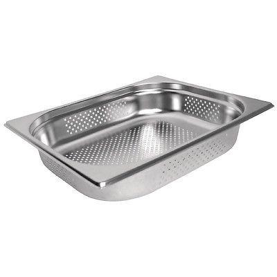 Gastronormbehälter gelocht 1/2 GN 65 mm tief, 3 Stück