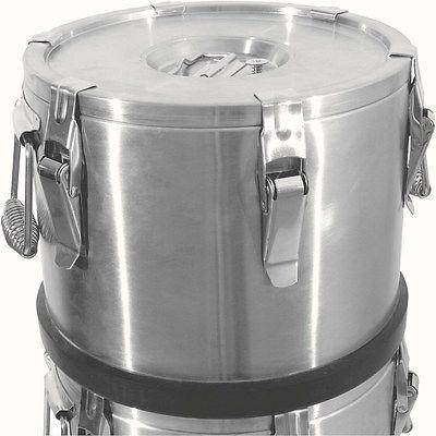Thermobehälter doppelwandig, 6 Liter, Belüftungsventil, 6 Verschlussklammern