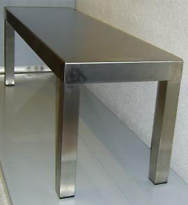 Aufsatzbord 1 - etagig Länge 140 cm , Festverschweißt
