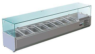 Aufsatz-Kühlvitrine Modell METTE VRX 1800 , 8x 1/3 GN von Saro